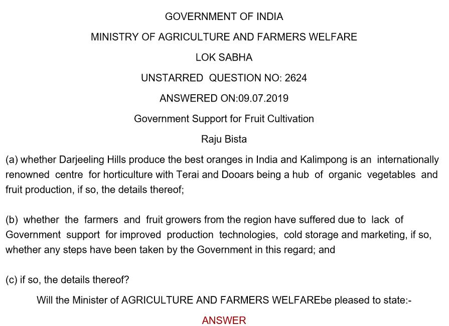 Darjeeling Oranges Issue - 1