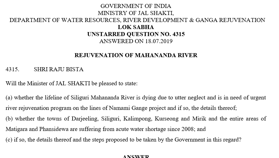 River Rejuvanation Mahananda