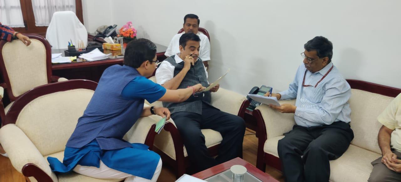 Raju Bista meeting with Nitin Gadkari Ji