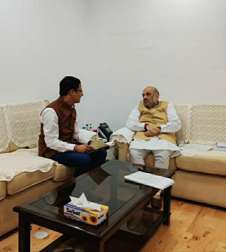 Darjeeling MP Raju Bista meets Home Minister