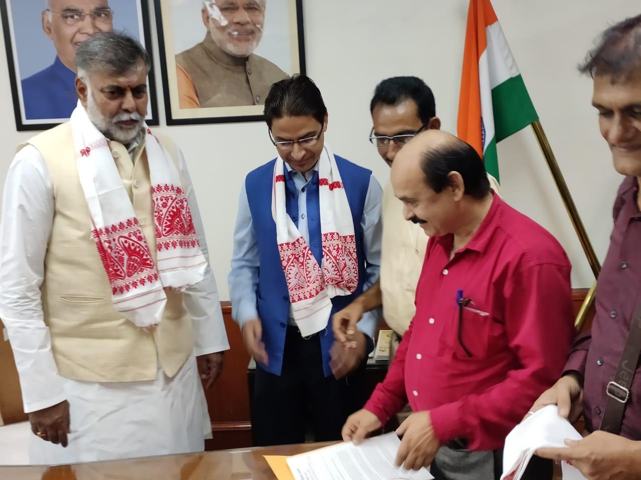 MP Raju Bista meeting Culture Minister