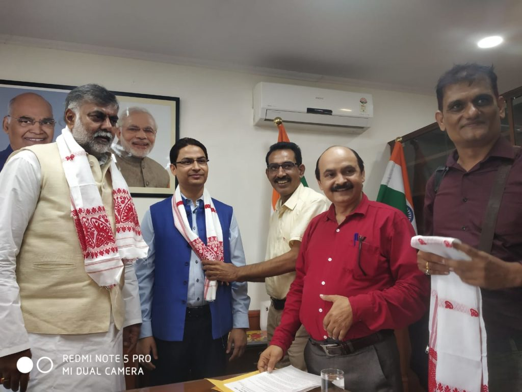 Raju Bista meeting with Culture Minister