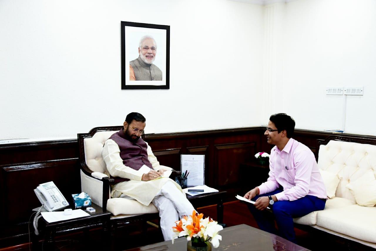 MP Raju Bista Meets I&B Minister
