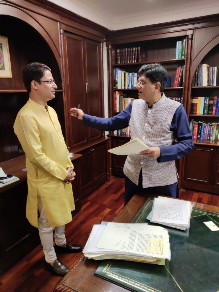 MP Raju Bista meets Railways Minister Piyush Goyal