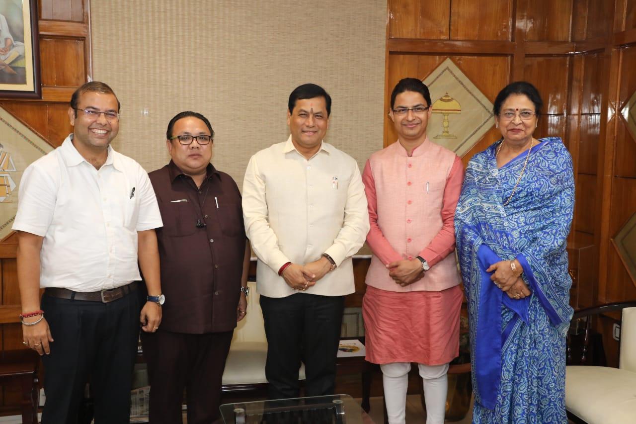 Assam NRC - MP Raju Bista meets with CM Sarbanda Sonowal