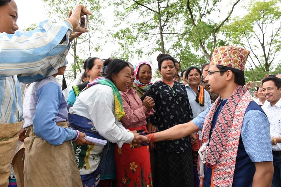 MP Raju Bista with Tea Garden