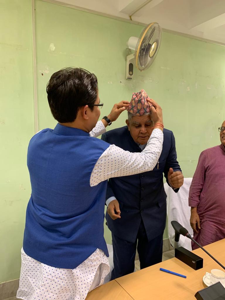 Raju Bbista meeting with Governor Jagdeep Dhankar