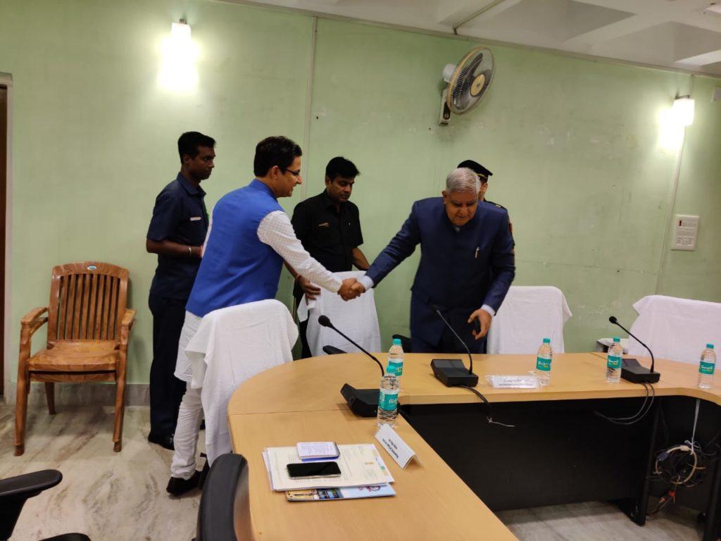 Press Address Raju Bista meeting with Governor Jagdeep Dhankar
