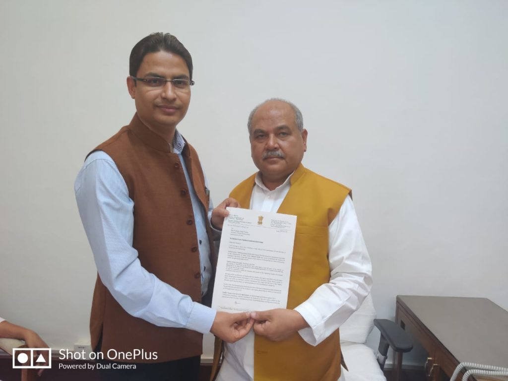 Raju Bista with Rural Development Minister